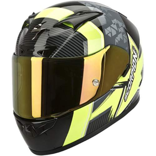 Scorpion Exo 710 Air Crystal Black/Yellow