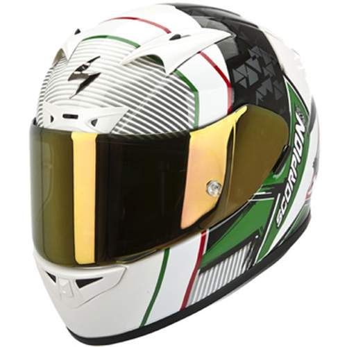 Scorpion Exo 710 Air Crystal White/Green/Red